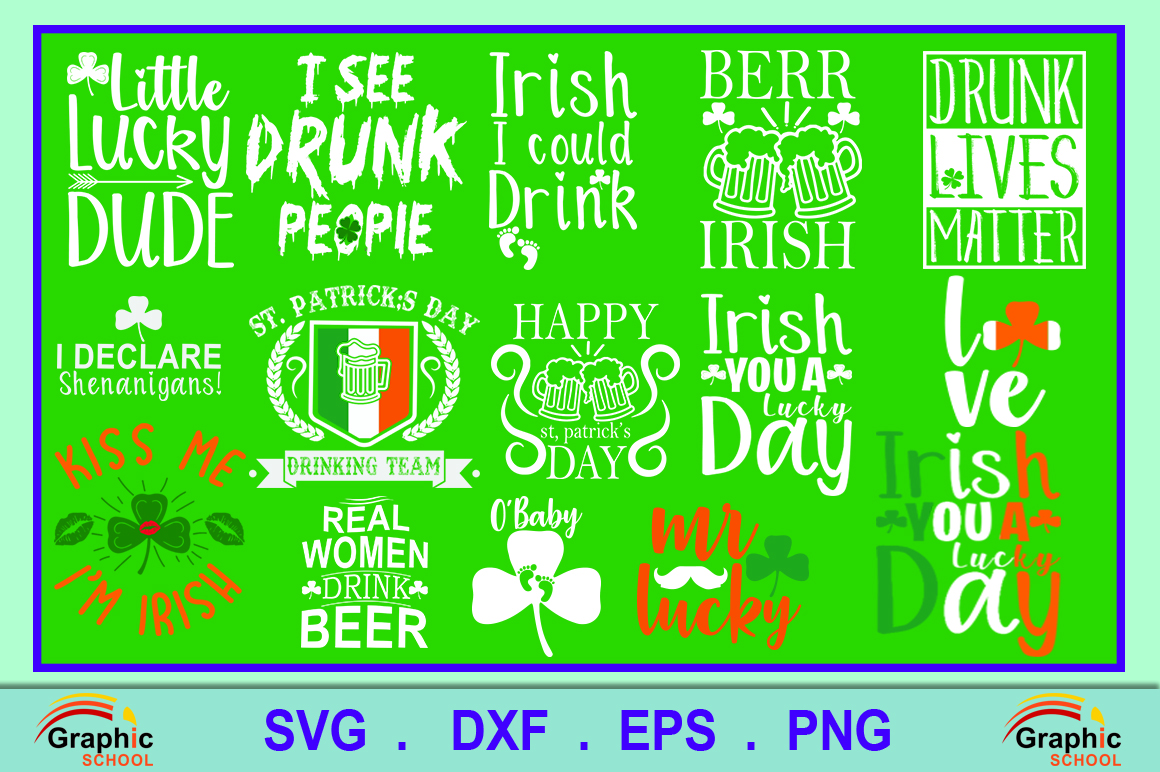 Download Free St Patrick S Day T Shirts Grafico Por Graphice School for Cricut Explore, Silhouette and other cutting machines.
