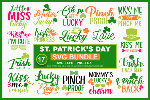 Print on Demand: St Patrick's Day Svg Bundle Graphic Crafts By DesignFarm