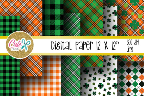 St Patricks Buffalo Plaid Pattern Graphic Textures By Cute files