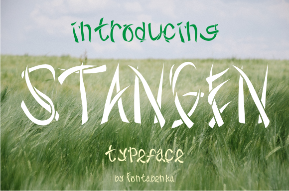 Print on Demand: Stangen Decorative Font By Captchabenka