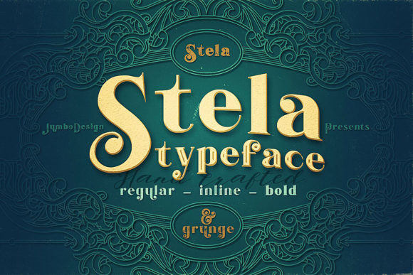 Stela Family Display Font By JumboDesign