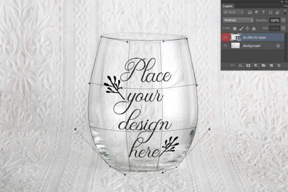 Stemless Wine Clear Glass Mock Up
