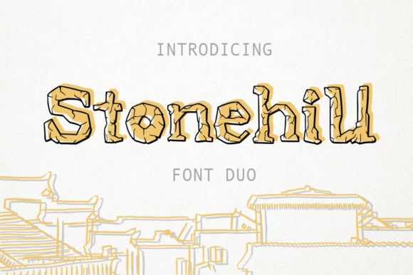 Print on Demand: Stonehill Duo Display Font By Red Ink - Image 1