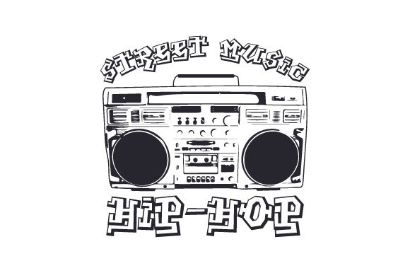Download Free Street Music Hip Hop Svg Cut File By Creative Fabrica Crafts for Cricut Explore, Silhouette and other cutting machines.
