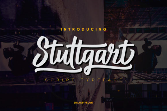 Print on Demand: Stuttgart Script Script & Handwritten Font By StudioAKTYPE