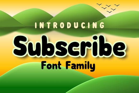 Print on Demand: Subscribe Family Decorative Font By vladimirnikolic