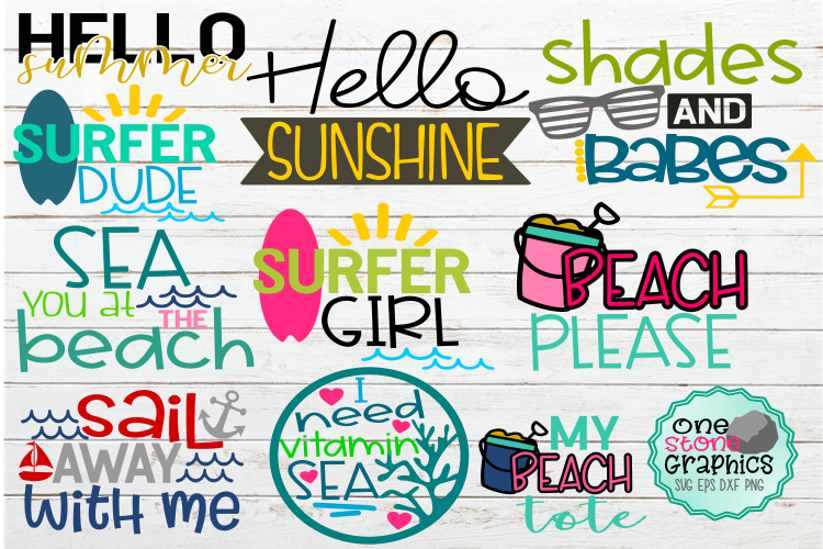 Download Free Summer Bundle Graphic By Onestonegraphics Creative Fabrica for Cricut Explore, Silhouette and other cutting machines.
