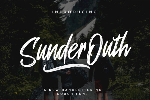Print on Demand: Sunder Outh Script & Handwritten Font By indotitas - Image 1