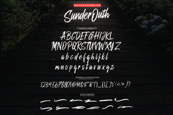 Print on Demand: Sunder Outh Script & Handwritten Font By indotitas - Image 8