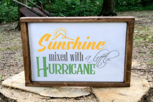 Sunshine Mixed with a Little Hurricane Svg Graphic By summersSVG