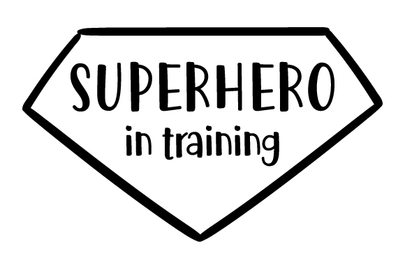 Download Free Superhero In Training Svg Cut File By Creative Fabrica Crafts for Cricut Explore, Silhouette and other cutting machines.