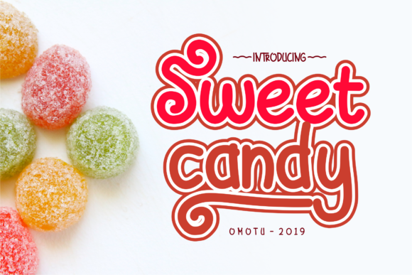 Print on Demand: Sweet Candy Script & Handwritten Font By Omotu