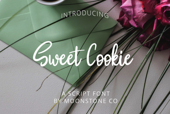 Download Free Sweet Cookie Font By Moonstone Co Creative Fabrica for Cricut Explore, Silhouette and other cutting machines.