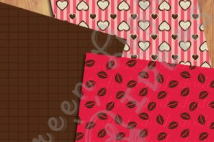 Sweet Valentine Digital Papers Graphic Backgrounds By GreenLightIdeas 2
