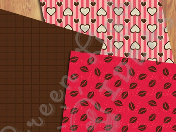 Sweet Valentine Digital Papers Graphic Backgrounds By GreenLightIdeas - Image 2