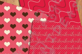 Sweet Valentine Digital Papers Graphic Backgrounds By GreenLightIdeas 3