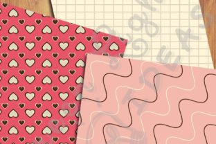 Sweet Valentine Digital Papers Graphic Backgrounds By GreenLightIdeas 4