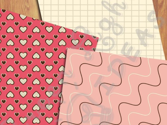 Sweet Valentine Digital Papers Graphic Backgrounds By GreenLightIdeas - Image 4