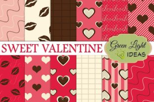 Sweet Valentine Digital Papers Graphic By GreenLightIdeas
