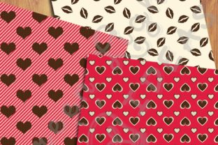Sweet Valentine Digital Papers Graphic Backgrounds By GreenLightIdeas 5