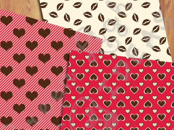 Sweet Valentine Digital Papers Graphic Backgrounds By GreenLightIdeas - Image 5