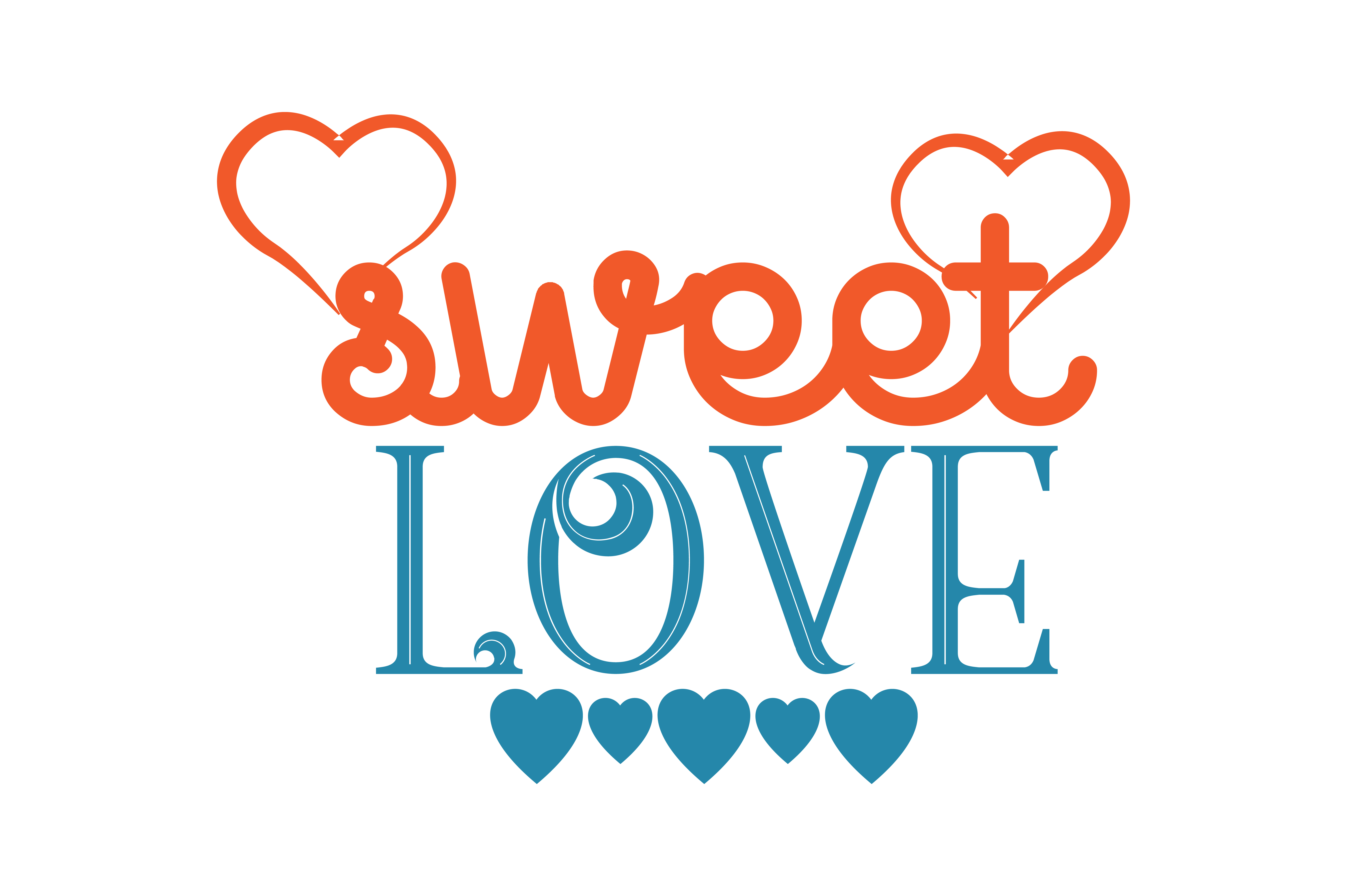Download Free Sweet Love Quote Svg Cut Graphic By Thelucky Creative Fabrica for Cricut Explore, Silhouette and other cutting machines.