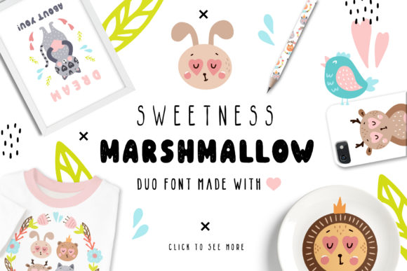 Print on Demand: Sweetness Marshmallow Duo Script & Handwritten Font By Juliya Kochkanyan