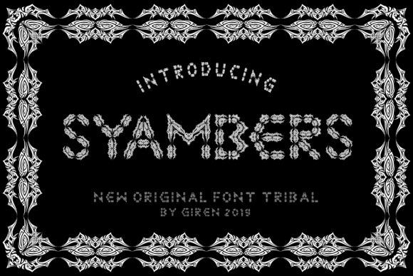 Print on Demand: Syambers Decorative Font By blackkido597