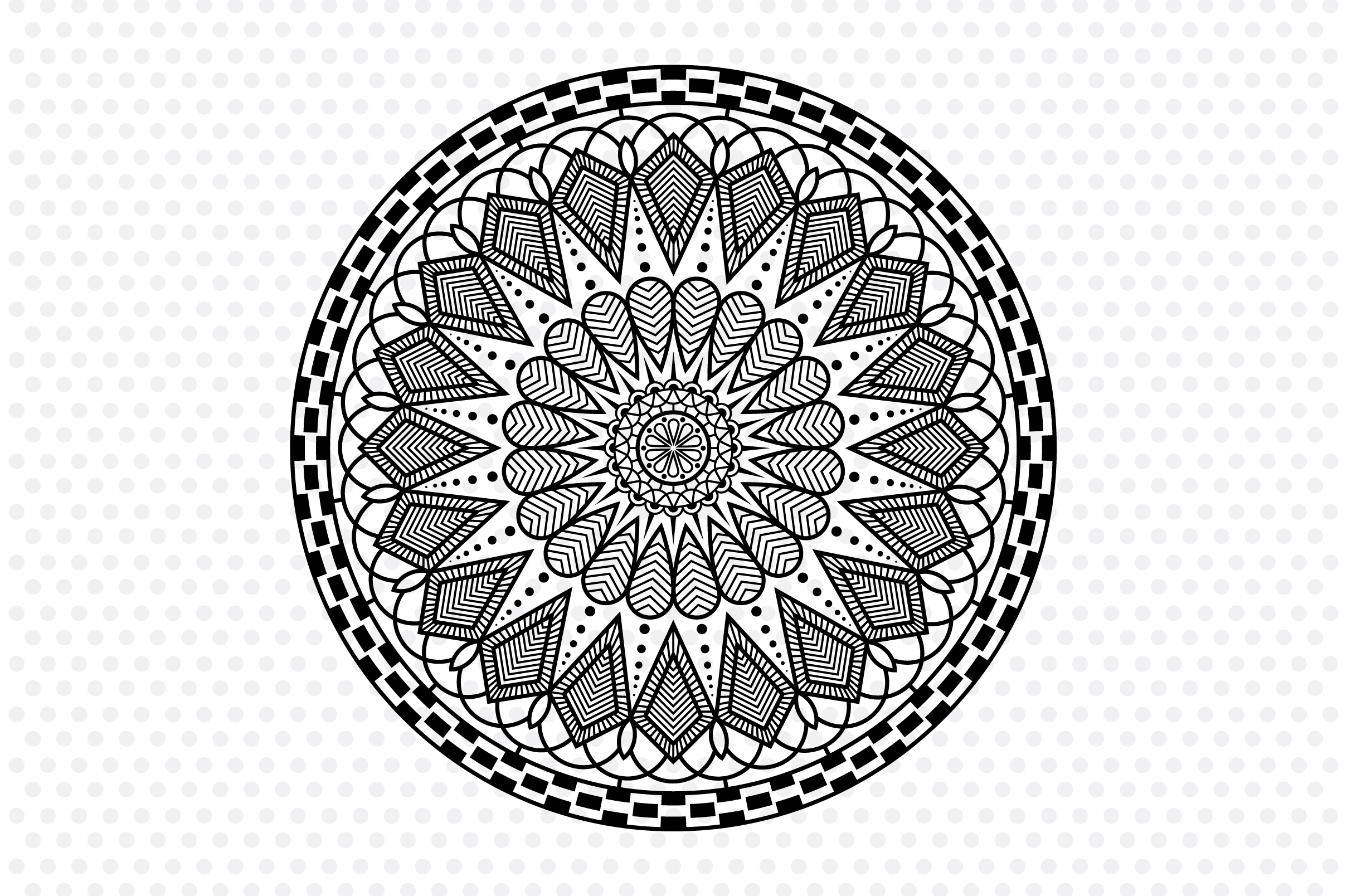 Download Free Symmetrical Mandala Graphic By Izacuite Creative Fabrica for Cricut Explore, Silhouette and other cutting machines.