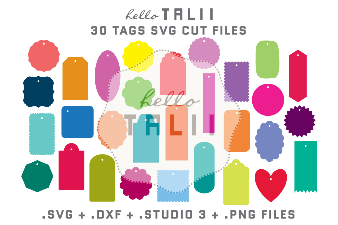 Download Free Tags Cutting Files Bundle Graphic By Hello Talii Creative Fabrica for Cricut Explore, Silhouette and other cutting machines.