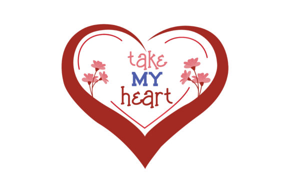Download Free Take My Heart Quote Svg Cut Grafico Por Thelucky Creative Fabrica for Cricut Explore, Silhouette and other cutting machines.