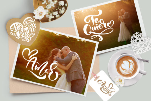 Te Quiero and Amor Valentine Quotes Graphic By Happy Letters Image 3