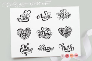 Te Quiero and Amor Valentine Quotes Graphic By Happy Letters
