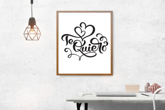 Te Quiero and Amor Valentine Quotes Graphic By Happy Letters Image 7