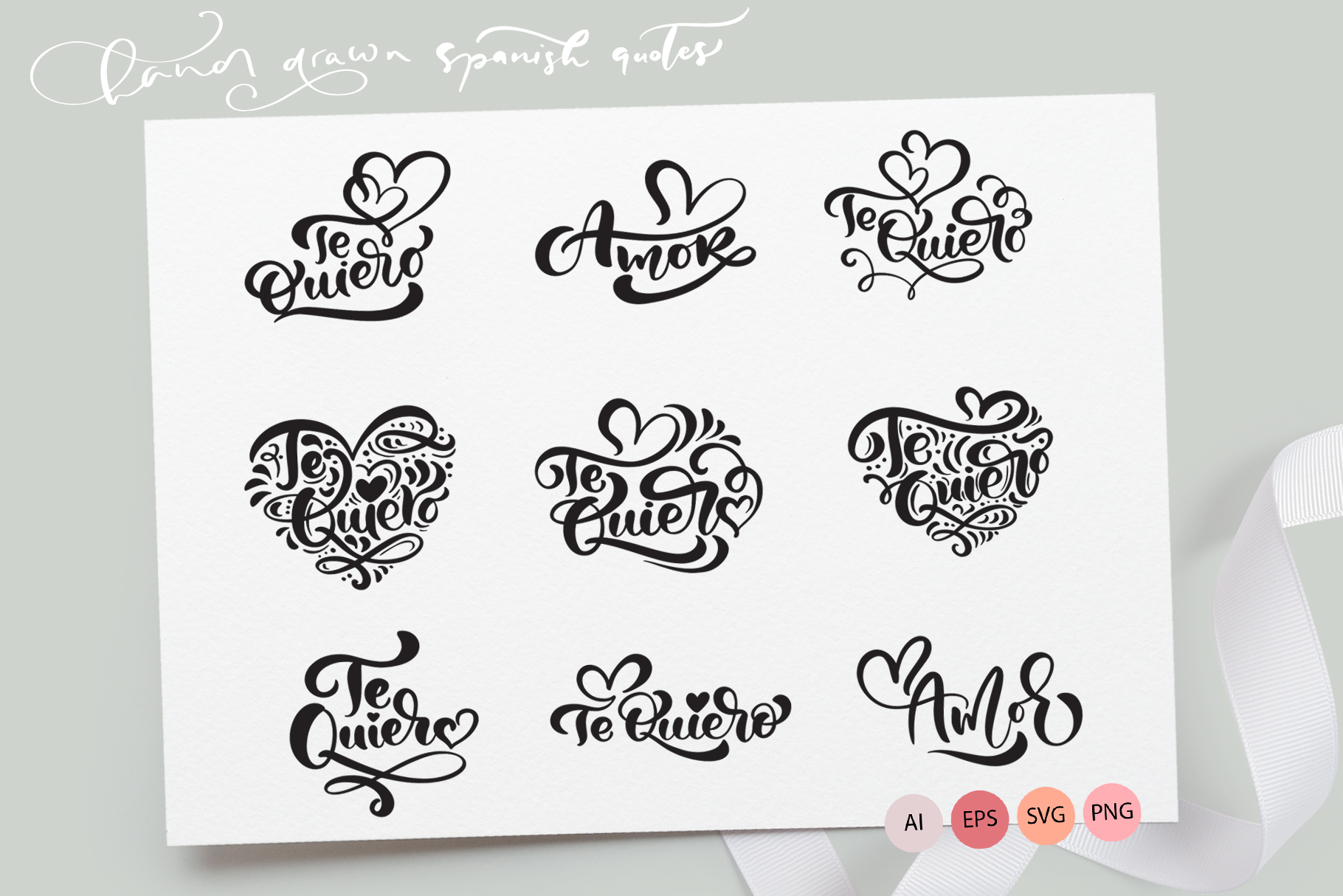 Download Free Te Quiero And Amor Valentine Quotes Graphic By Happy Letters Creative Fabrica for Cricut Explore, Silhouette and other cutting machines.