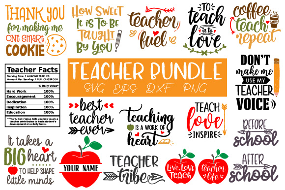 Download Free Teacher Bundle Graphic By Craft Pixel Perfect Creative Fabrica for Cricut Explore, Silhouette and other cutting machines.