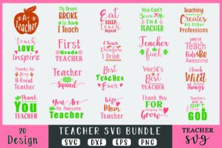 Download Free Teacher Bundle Graphic By Creativesvg Creative Fabrica for Cricut Explore, Silhouette and other cutting machines.