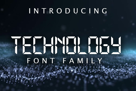Print on Demand: Technology Family Display Font By vladimirnikolic