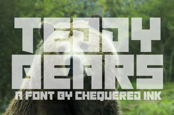 Print on Demand: Teddy Bears Display Font By Chequered Ink