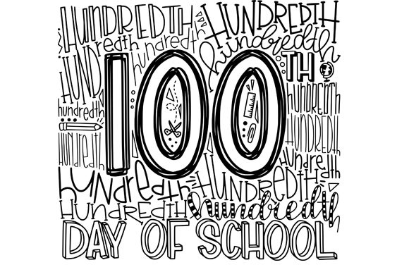 Hundredth Day of School Graphic Illustrations By dangphuoctuanmail
