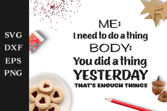 That's Enough Things SVG Graphic By Nerd Mama Cut Files