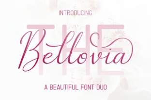 The Bellovia Duo Script & Handwritten Font By Sibelumpagi Studio