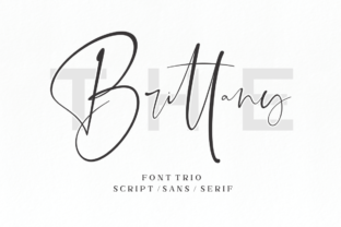 The Brittany Font By Sronstudio
