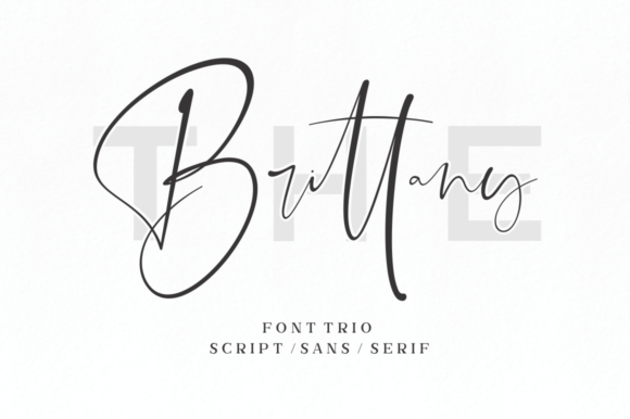 Print on Demand: The Brittany Script & Handwritten Font By Sronstudio