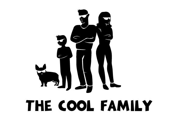 The Cool Family Family Car Craft Cut File By Creative Fabrica Crafts