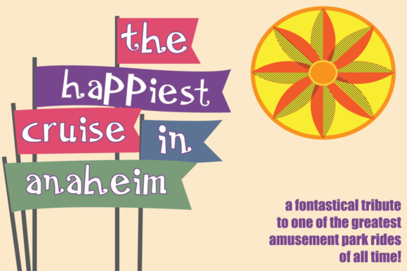 Print on Demand: The Happiest Cruise in Anaheim Display Font By Megami Studios
