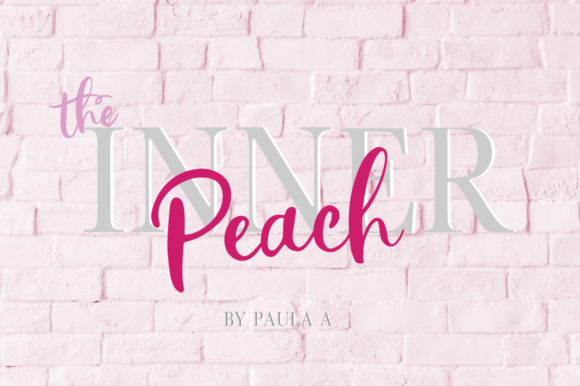 The Inner Peach Duo Font By PaulaType Image 1