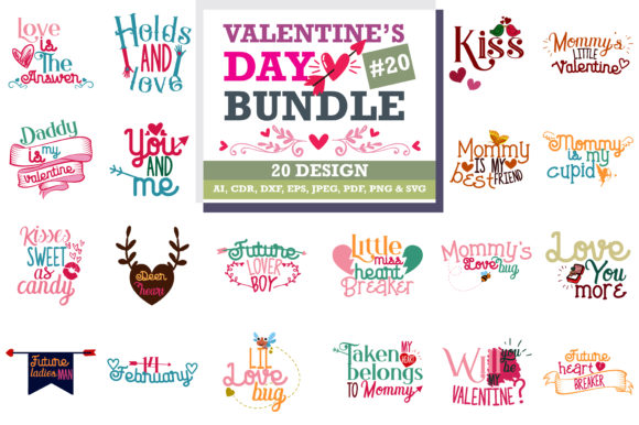 Download Free The Lovely Valentine Bundle Graphic By Thelucky Creative Fabrica for Cricut Explore, Silhouette and other cutting machines.