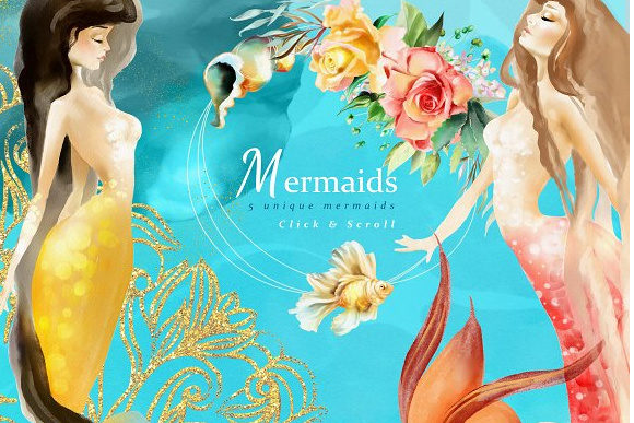 Print on Demand: The Mermaids Heaven Graphic Illustrations By Anna Babich - Image 2