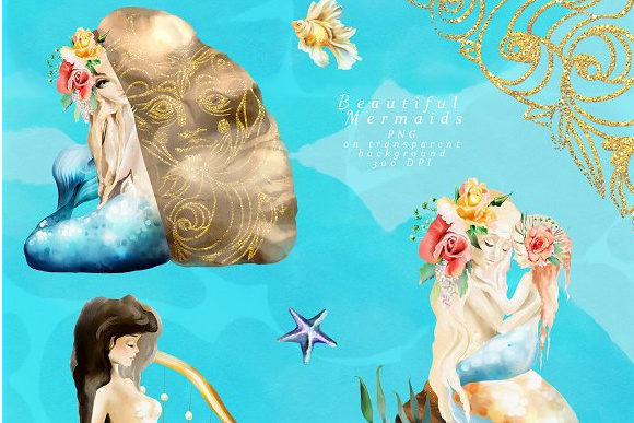 Print on Demand: The Mermaids Heaven Graphic Illustrations By Anna Babich - Image 3